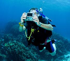 fotocamera e videocamera subacquea